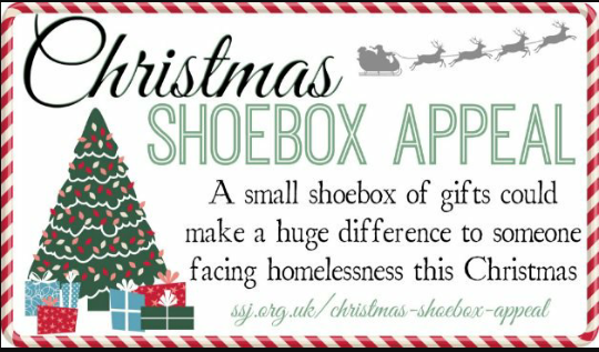 Christmas Shoe Box Appeal.Help The Homeless Christmas Shoebox Appeal Cerebral